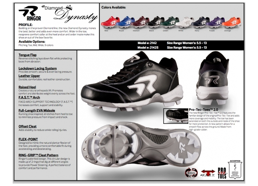 Softball Cleats for Women. Give the Gift of Ringor. Shop Footwear.