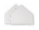 covee-homeplate-thick-rubber-without-pins-white-one-size