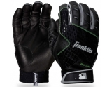 franklin-2nd-skinz-baseball-batting-gloves-black-large