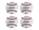 rawlings-4-stuks-rolb2-leather-baseball-wit-9-inch