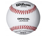 wilson-wta1050b-official-league-leren-honkbal-wit-9-inch