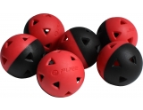 p2i-golf-honkbal-impact-training-balls-black-red-5-inch-set-of-6