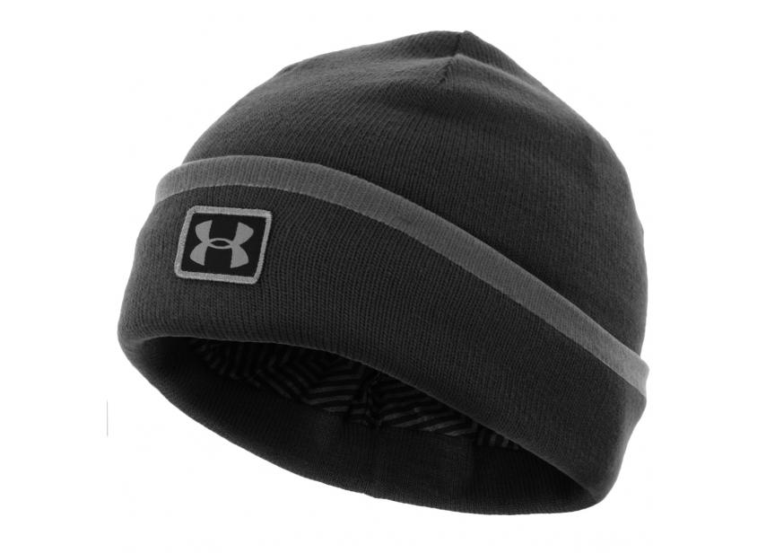 7fe93ebfa85 Men s UA ColdGear Infrared Cuff Sideline Beanie - Black
