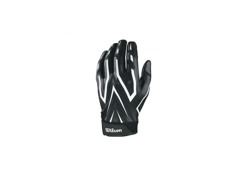 d018cebfdb9 Wilson AD Clutch American Football Receiver Gloves - Black White - Large
