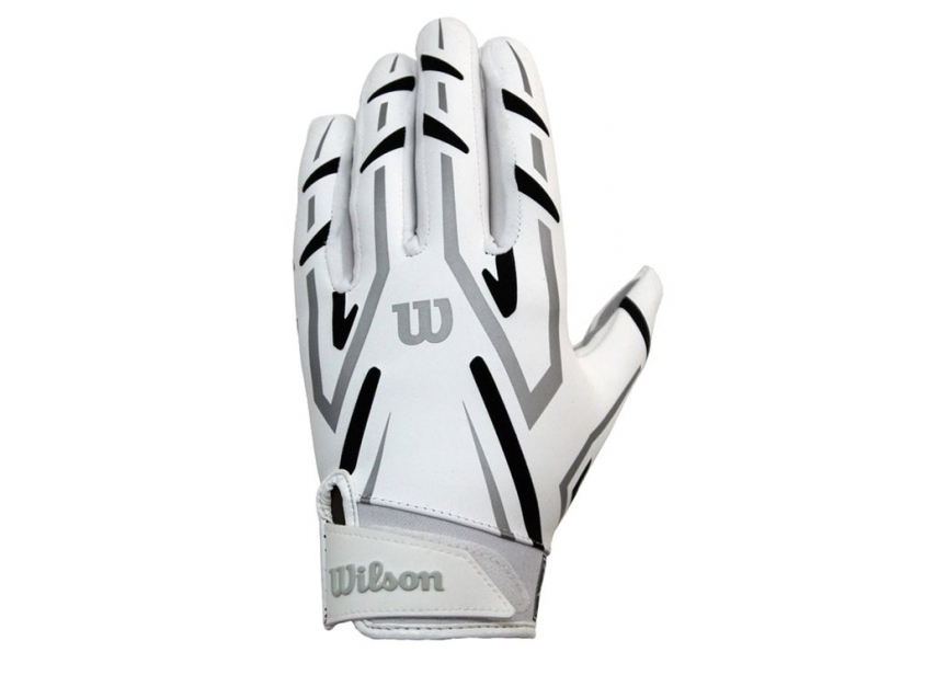 7caf2ebe2c5 Wilson AD Clutch Skill American Football Receiver Gloves - White Black -  Large